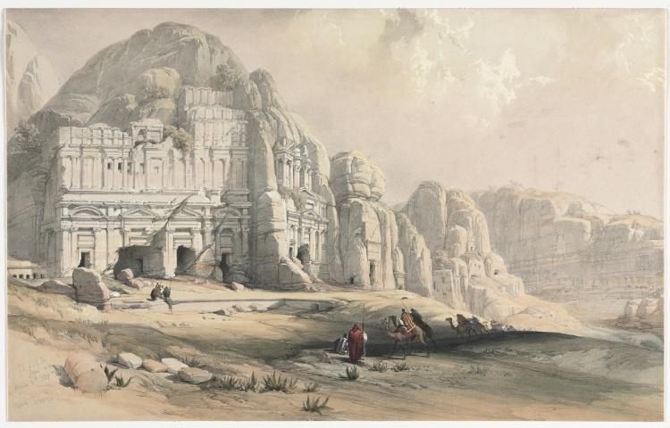 David Roberts Petra Eastern End Of The Valley