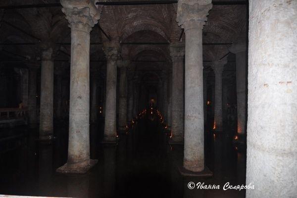 Стамбул. Цистерна Базиліка. Колони